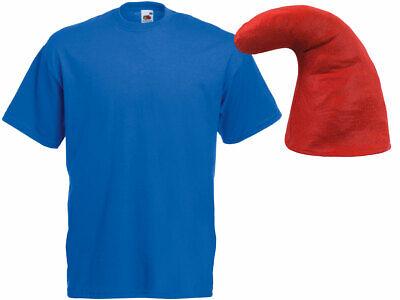 blaues Zwergen Kostüm Verkleidung (Kv-143) blaues T-Shirt und rote Zwergenmütze - Rote Und Blaue Kostüm