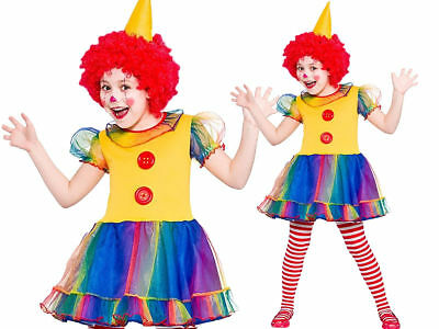 Child Girls Cute Clown Costume Kids Circus Fancy Dress Outfit New 3-10 Years (Cute Circus Outfits)