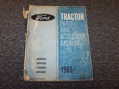 1965 Ford 2000 2100 2110 2120 2300 2310 Tractor Original Parts Catalog Manual