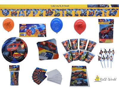 ks - Partyset - Kindergeburtstag - 44 Teile - Kinder - Jungs (Cars Einladungen)