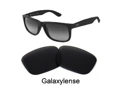 Galaxy Replacement Lenses For Ray Ban RB4165 Justin Black 54mm (Replacement Lens For Ray Ban Sunglasses)