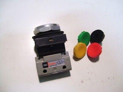 New Smc Nvm130-n01-33 Pneumatic 3 Way Flush Push Button Switch 18npt P2803b