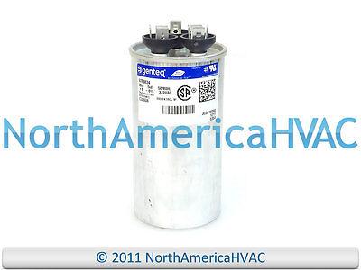 GE Genteq Capacitor Dual Run Round 35/5 uf MFD 370 Volt VAC