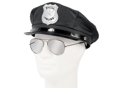 Polizei Outfit Karneval Verkleidung (Kv-121) Cop Set Polizeimütze, - Polizei Kostüm Männlich