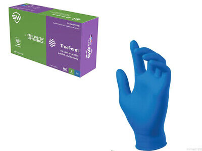 Sw Blue Nitrile Latex-free Gloves 4.7mil Thick 100box Size Xlarge Or 2xlarge