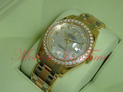 Rolex Tri-Color Tridor Day-Date Masterpiece Pearlmaster 39mm Diamond Dial 18948