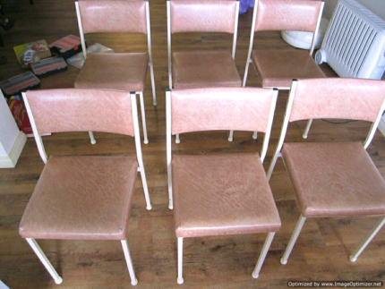 6x Vinyl Padded Kitchen Chairs