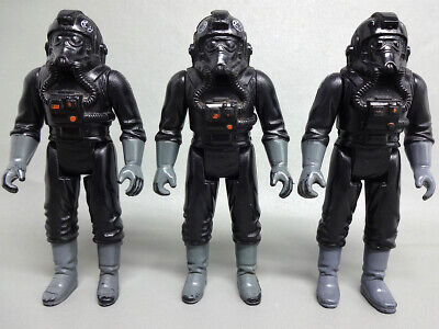 3 Vintage Star Wars Imperial Tie Fighter Pilots - 3 Different Variants