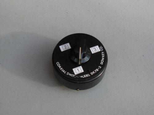 DOW-KEY DK78-3 Three Position Coax Switch