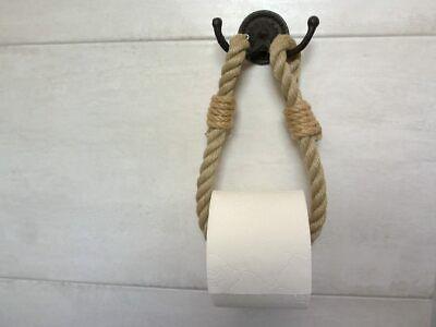 Toilettenrollenhalter vintage Landhaus Gusseisen Seil Toilettenpapier Halter NEU