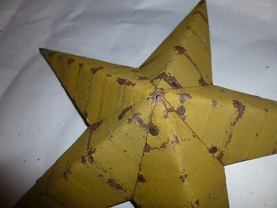 Best Rustic Genuine Amish Quality Primitive 12 inch Barn Star USA Made MUSTARD