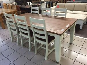BRAND NEW - SNOWY RIVER DINING SET (7 PIECES) Brisbane Region Preview