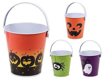 Halloween Eimer Süßigkeiten Eimerchen Candy Bucket verschiedene Motive