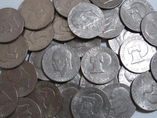 1976 Bicentennial Eisenhower Ike Dollars - Lot of 10