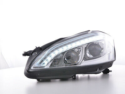 Scheinwerfer Set Daylight LED TFL-Optik für Mercedes-Benz S (221) 05-09 chrom