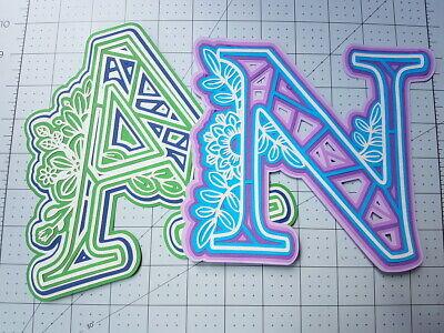 UPPERCASE 3D Layered PaperCut Letter Wall Art, Mr Mrs paper cut alphabet art