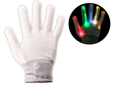 e Weiß Leuchtend Blinkend Disco6-Modus Gloves GLO-001  (Blinkende Handschuhe)
