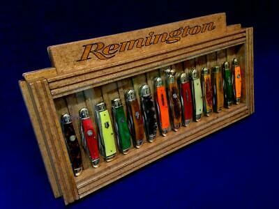 Remington Knife Display Collectors Vintage Pocket Knives Counter Top Case