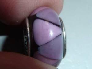 Pandora Purple Triangles Murano Charm 790635