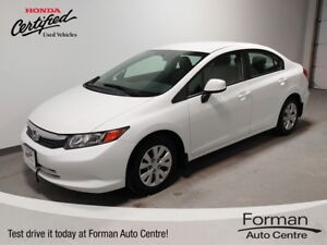 2012 Honda Civic LX - Honda Certified | New tires | Low KMs |...