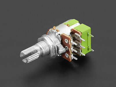 Panel Mount 10k Dual Linear Potentiometer W On-off Switch Volume Style Control