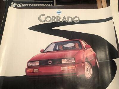 Vintage VW Volkswagen Showroom Advertising Poster Corrado G60
