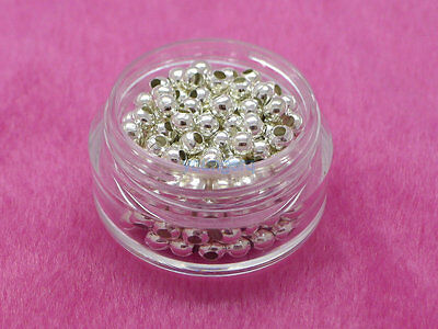 Wholesale Bronze Gold /&Silver Plated Metal Ball Spacer Beads 2//3//4// 5// 6//8mm