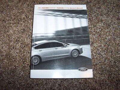 2014 Ford Fusion Hybrid Energi Owner Operator Manual SE S Luxury Titanium 2.0L