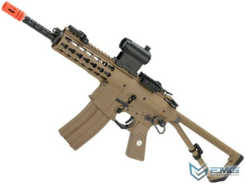 EMG Knights Armament Airsoft PDW M2 Gas Blowback Airsoft Rifle Tan Green Gas