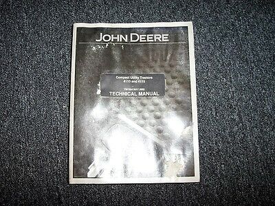 John Deere 4110 4115 Compact Utility Tractor Shop Service Repair Manual Tm1984