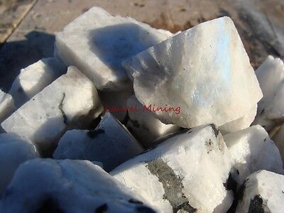 Natural WHITE RAINBOW MOONSTONE - 1000 CARAT Lots - Gemstone Rough PERFECT SIZE