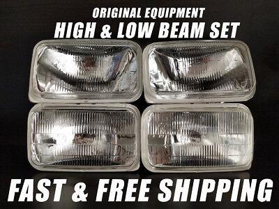 OE Fit Headlight Bulb For Chevrolet Blazer 1989-1991 Low & High Beam Set of 4