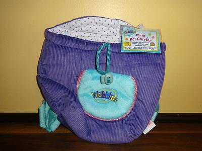 Webkinz Plush Pet Carrier PUrple and Turquoise New with Code