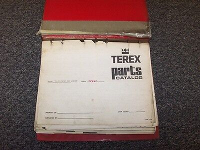 Terex 72-51 Front End Loader Tractor Factory Original Parts Catalog Manual Book