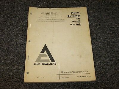 Allis Chalmers Hd11ep Crawler Dozer Tractor Original Parts Catalog Manual Book