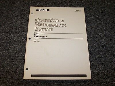 Cat Caterpillar 307 Excavator Owner Owners Operator Maintenance Manual 2pm1-up