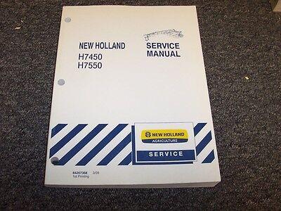 New Holland H7450 H7550 Discbine Pivot Tongue Disc Shop Service Repair Manual