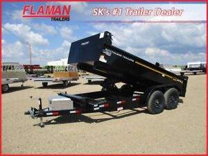 Southland 14' Dump Trailer - Two 7000 lbs Axles!