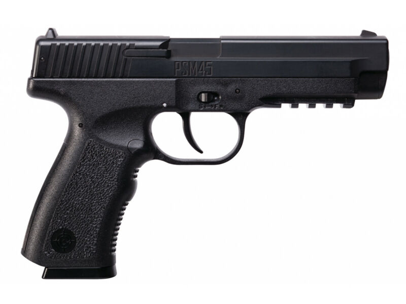 Crosman PSM45 Spring Powered Air Pistol - 0.177 cal  Metal slide polymer frame 2
