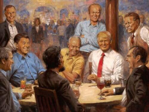 "PRESIDENTS DONALD TRUMP, ABRAHAM LINCOLN, & RONALD REAGAN 8""X10"" PHOTO PRINT"