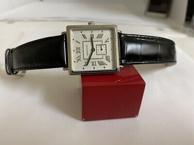 NOS Men's Midsize Hamilton 6327  Square RETRO watch 1990s VERY RARE