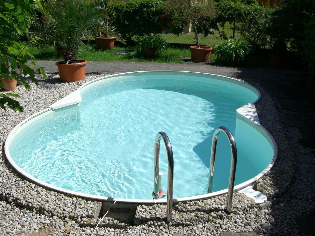 Stahlwandbecken Achtformbecken Aufstellbecken Achtform Pool Schwimmbecken