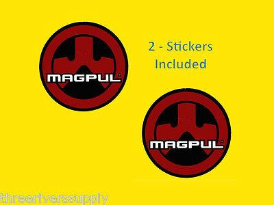 "2 - MAGPUL LOGO Sticker Decal 3.5"" - Rifle Gun Pistol Shooting Tactical"