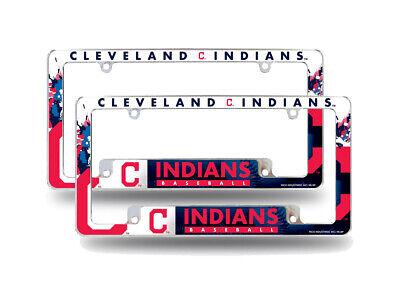 Cleveland Indians MLB  Chrome Metal License Plate Frames w B