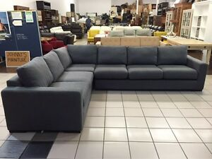 6 SEAT CORNER FABRIC LOUNGE Logan Central Logan Area Preview