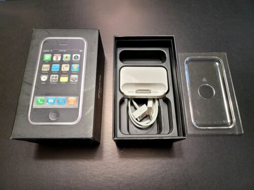 Apple iPhone 1st Generation - 8GB - Black (AT&T) A1203 --- *** BOX ONLY *** ---
