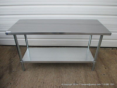 New Stainless Steel Work Prep Table 60 X 24 Nsf
