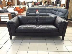 100% LEATHER - 3 SEATER LOUNGE (CHOCOLATE) Logan Central Logan Area Preview