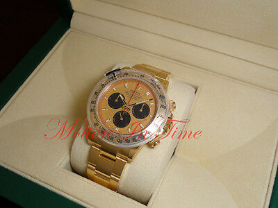 Rolex Cosmograph Daytona Paul Newman Yellow Gold on Bracelet 40mm 116528
