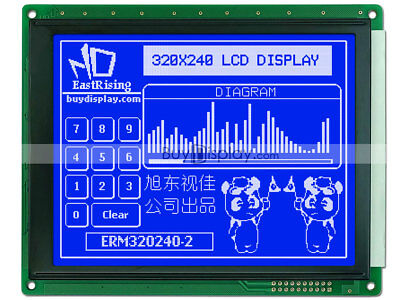 5.7blue 320x240 Graphic Glcd Lcd Module Wra8835 Sed1335optional Touch Panel